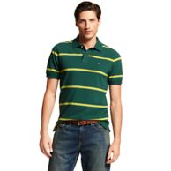 CUSTOM FIT THIN STRIPE POLO $55.00
