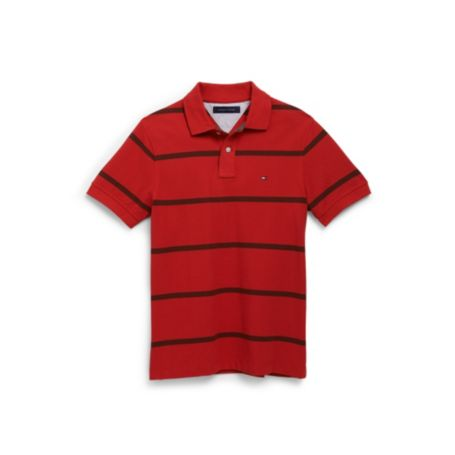 Image for CUSTOM FIT THIN STRIPE POLO from Tommy Hilfiger USA