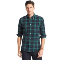 NEW YORK FIT BLACKWATCH PLAID SHIRT $59.99