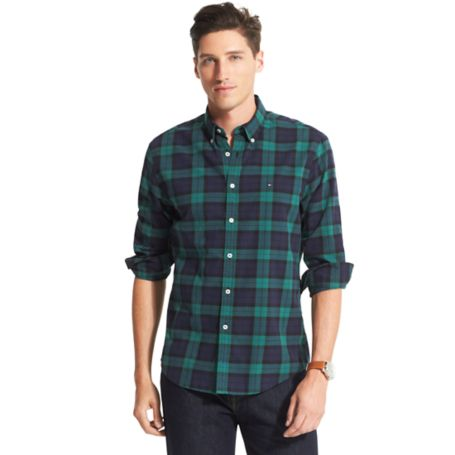 Image for NEW YORK FIT BLACKWATCH PLAID SHIRT from Tommy Hilfiger USA