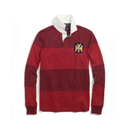 Image for PIECED RUGBY WITH PATCH from Tommy Hilfiger USA