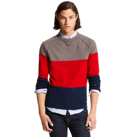 Image for COLORBLOCKED CREW NECK SWEATER from Tommy Hilfiger USA