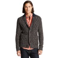 CABLE SHAWL CARDIGAN $129.99