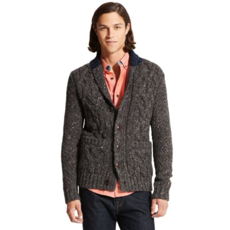 Image for CABLE SHAWL CARDIGAN from Tommy Hilfiger USA