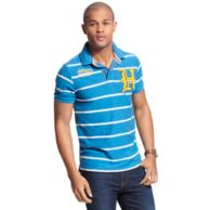 BADGE STRIPE POLO $44.99
