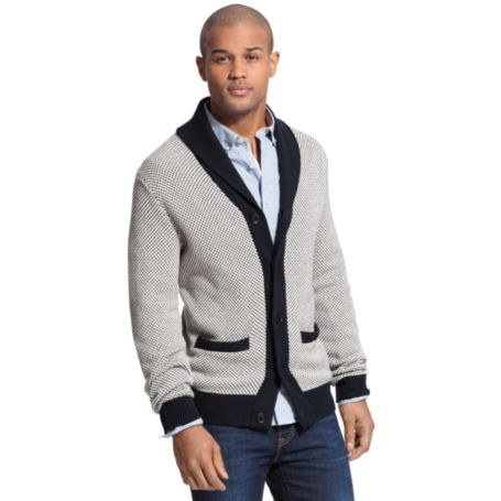 Image for TEXTURED SHAWL CARDIGAN from Tommy Hilfiger USA