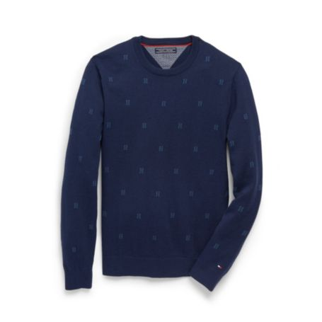 Image for EMBROIDERED H C-NECK SWEATER from Tommy Hilfiger USA