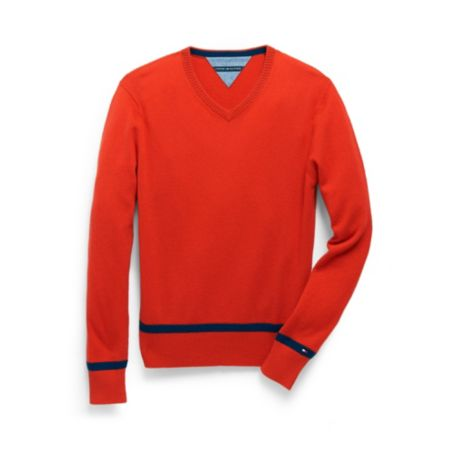 Image for CASHMERE V NECK SWEATER from Tommy Hilfiger USA