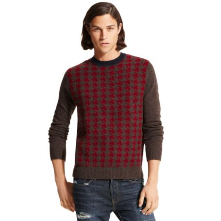 Image for HOUNDSTOOTH CREW NECK SWEATER from Tommy Hilfiger USA
