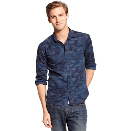 Image for CLASSIC FIT INDIGO CAMOUFLAGE SHIRT from Tommy Hilfiger USA