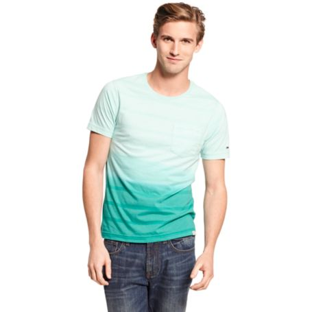 Image for DIP DYE STRIPE HILFIGER DENIM TEE from Tommy Hilfiger USA