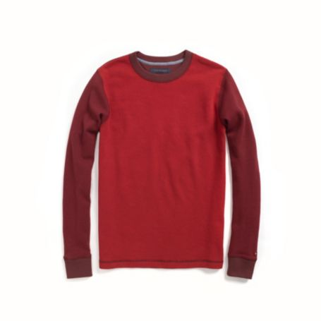 Image for LONG SLEEVE COLORBLOCK THERMAL TEE from Tommy Hilfiger USA