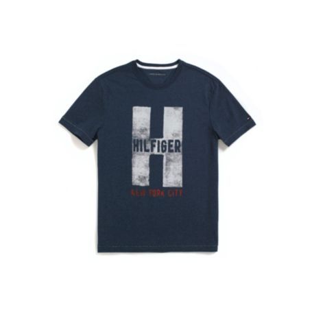 Image for H HEATHERED TEE from Tommy Hilfiger USA