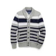 STRIPE SHAWL CARDGIAN FLEECE $89.50