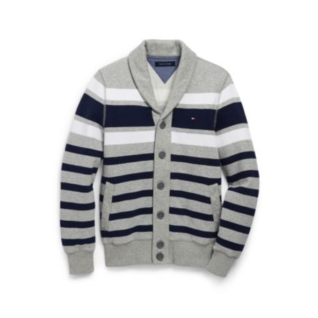 Image for STRIPE SHAWL CARDGIAN FLEECE from Tommy Hilfiger USA