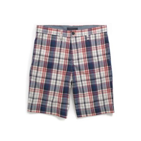 CUSTOM FIT PLAID SHORT