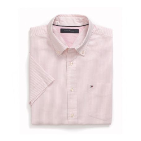 Image for CLASSIC FIT OXFORD STRIPE SHORT SLEEVE SHIRT from Tommy Hilfiger USA