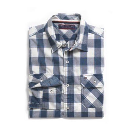 Image for CUSTOM FIT ROLL TAB PLAID SHIRT from Tommy Hilfiger USA