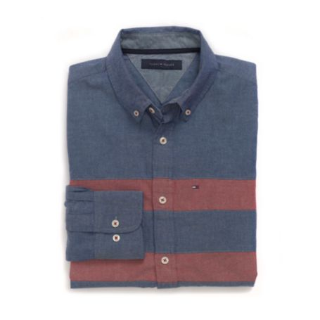 Image for CUSTOM FIT 80'S CHEST STRIPE SHIRT from Tommy Hilfiger USA
