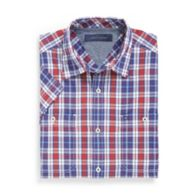 CUSTOM FIT 2 POCKET PLAID SHIRT $34.99
