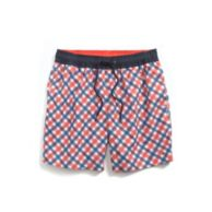 6' PLAID SWIM TRUNK $49.50