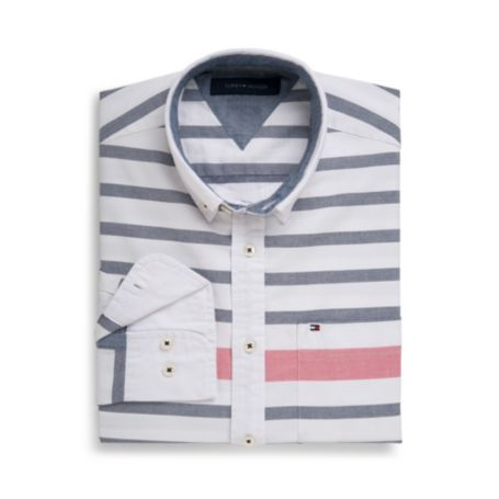 Image for CUSTOM FIT NOVELTY STRIPE SHIRT from Tommy Hilfiger USA