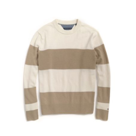 Image for RUGBY STRIPE C-NECK SWEATER from Tommy Hilfiger USA