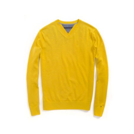 Image for COTTON CASHMERE V NECK SWEATER from Tommy Hilfiger USA