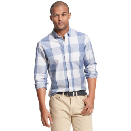 Image for CUSTOM FIT OVERSIZE GINGHAM PRINT from Tommy Hilfiger USA