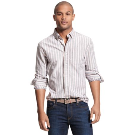 Image for CUSTOM STRIPE OXFORD SHIRT from Tommy Hilfiger USA