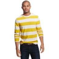 LONG SLEEVE BLOCK STRIPE TEE $29.99