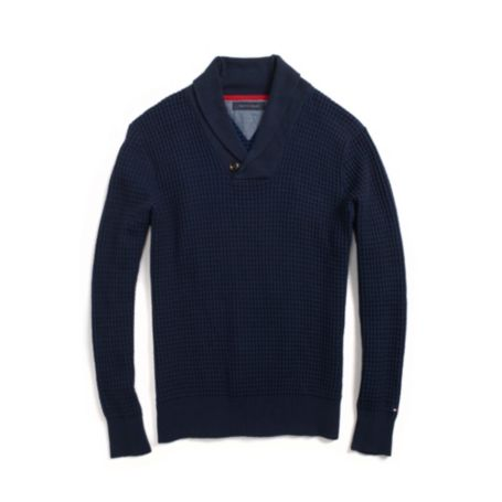 Image for WAFFLE SHAWL NECK SWEATER from Tommy Hilfiger USA