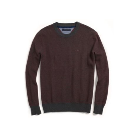 Image for BIRDSEYE CREW NECK SWEATER from Tommy Hilfiger USA