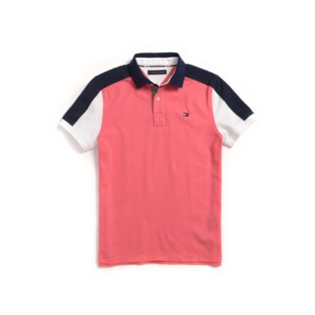Image for CUSTOM FIT PIQUE PIECED POLO from Tommy Hilfiger USA