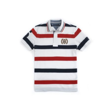 Image for CUSTOM FIT NAUTICAL STRIPE POLO from Tommy Hilfiger USA