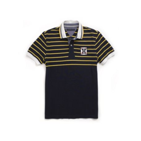 Image for CUSTOM FIT WOVEN COLLAR NAUTICAL POLO from Tommy Hilfiger USA
