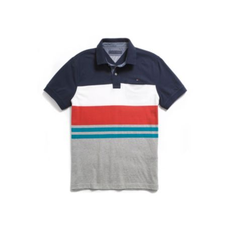 Image for CUSTOM FIT STRIPE POCKET POLO from Tommy Hilfiger USA