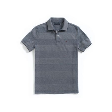 Image for CUSTOM FIT OXFORD STRIPE POLO from Tommy Hilfiger USA