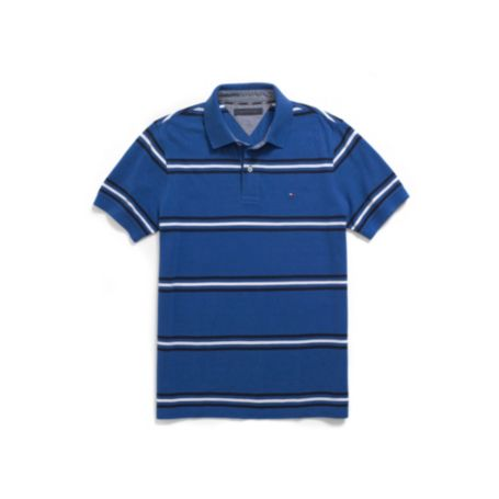 REGULAR FIT PIQUE STRIPE POLO