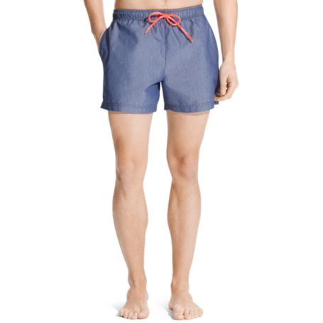 Image for CHAMBRAY SWIM TRUNK from Tommy Hilfiger USA