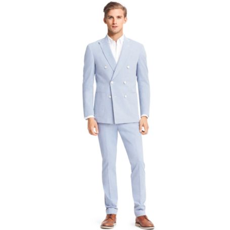 Image for DOUBLE-BREASTED COTTON SUIT from Tommy Hilfiger USA