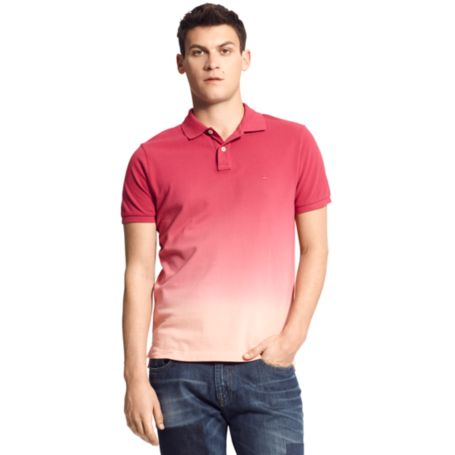 Image for SLIM FIT DIP DYE POLO from Tommy Hilfiger USA