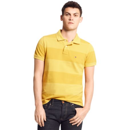 Image for SLIM FIT GARMENT DYE RUGBY STRIPE POLO from Tommy Hilfiger USA