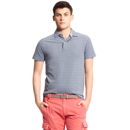 Image for SLIM FIT STRIPE POLO from Tommy Hilfiger USA