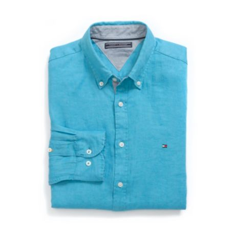 Image for NEW YORK FIT SOLID LINEN SHIRT from Tommy Hilfiger USA