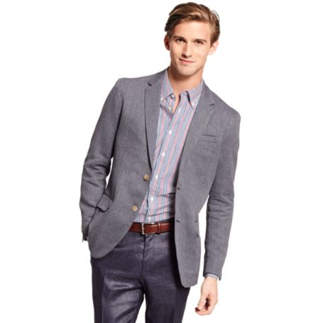 Image for 2 BUTTON PATTERN BLAZER from Tommy Hilfiger USA