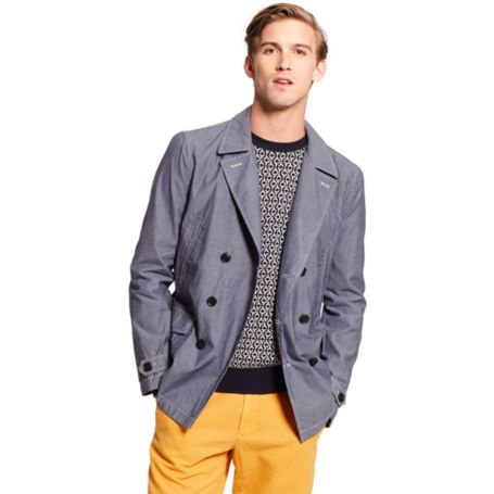 Image for CHAMBRAY PEACOAT from Tommy Hilfiger USA