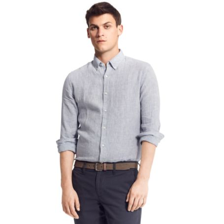 Image for NEW YORK FIT LINEN SOLID SHIRT from Tommy Hilfiger USA