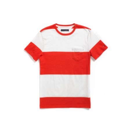 Image for BLOCK STRIPE TEE from Tommy Hilfiger USA