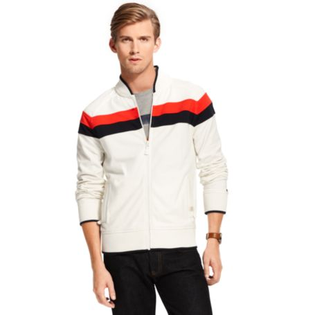 Image for CHEST STRIPE ZIP FLEECE from Tommy Hilfiger USA